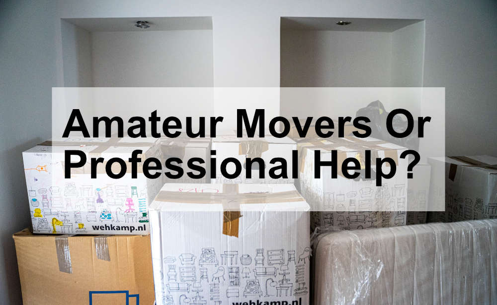 a bunch of packed and taped moving boxes sitting in an empty room